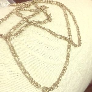 40 inch chain links necklace. Silvertone vintage